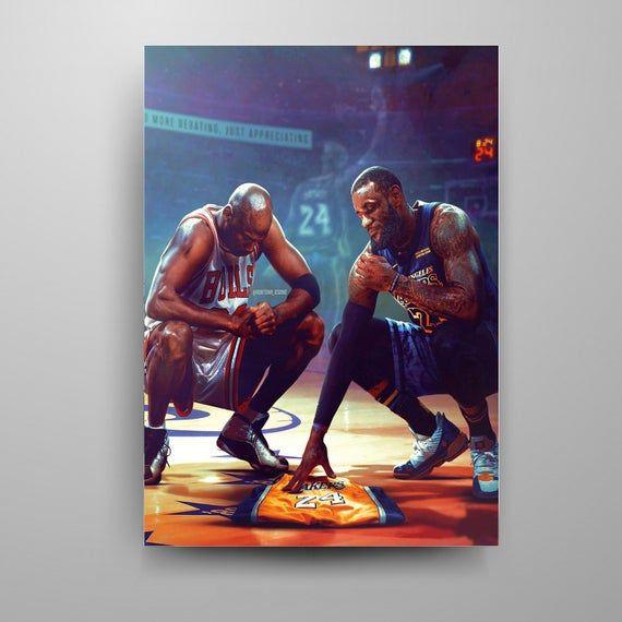 Jordan And Lebron Kobe Jersey Poster In 2020