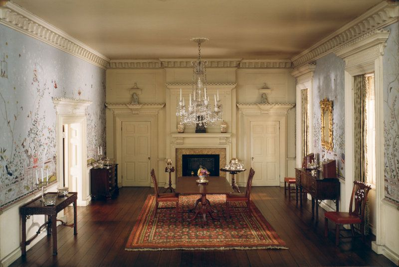 Rooms: A20: Virginia Dining Room, 1758
