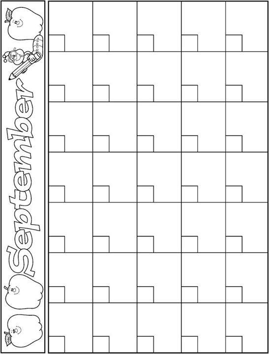 September calendar template good stuff Preschool calendar