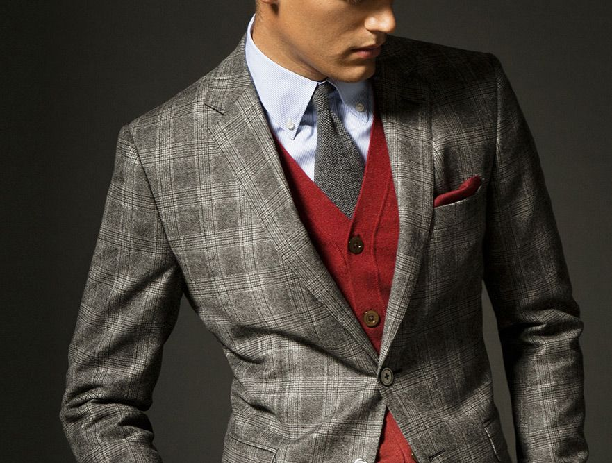 Massimo Dutti - Men's - Cashmere Checkered Suit • Selectism