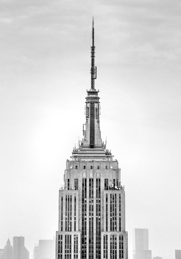 Black And White Empire State Building