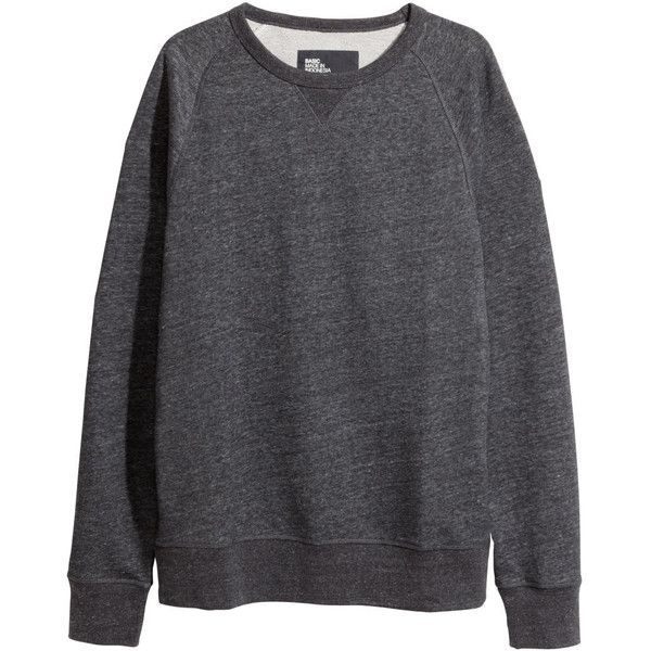 Melange Sweatshirt $24.95 ($25) ❤ liked on Polyvore featuring tops, hoodies, sweatshirts, sweat tops, raglan sweatshirt, sweat shirts and long sweat shirts