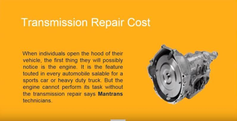 How Much Does It Cost To Replace A Transmission >> Mantrans Llc How Much Does Transmission Repair Cost