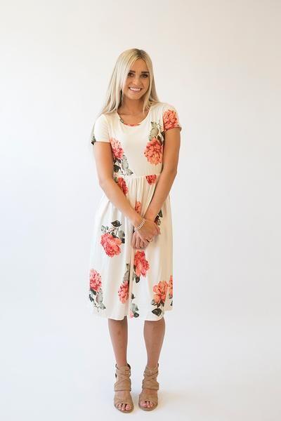 Kate Floral Midi Dress