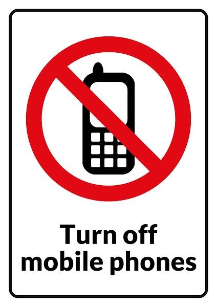 turn off your mobile devices signs No Mobile Phones sign template - Turn Off Cell Phone Sign