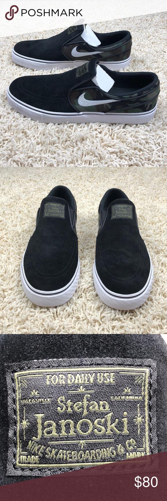 new arrivals aa687 0181b Nike SB Zoom Stefan Janoski Slip On Camo 9.5 New Without Box! Nike Zoom  Stefan Janoski Slip On Skateboard Shoes. Rare! Camouflage With Black    White.