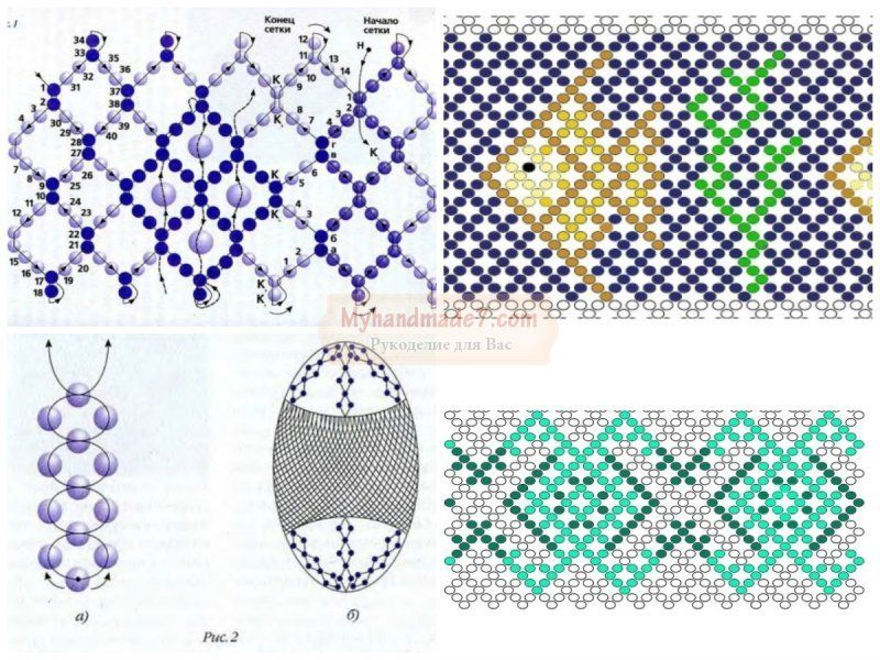 Схемы плетения бисером крупным