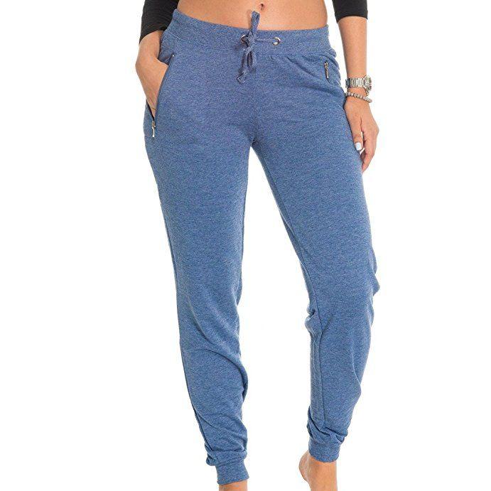 c57aeb3344 E177P-HD) Coco-Limon Fleece Womens Jogger, Long, Zipper Pockets ...