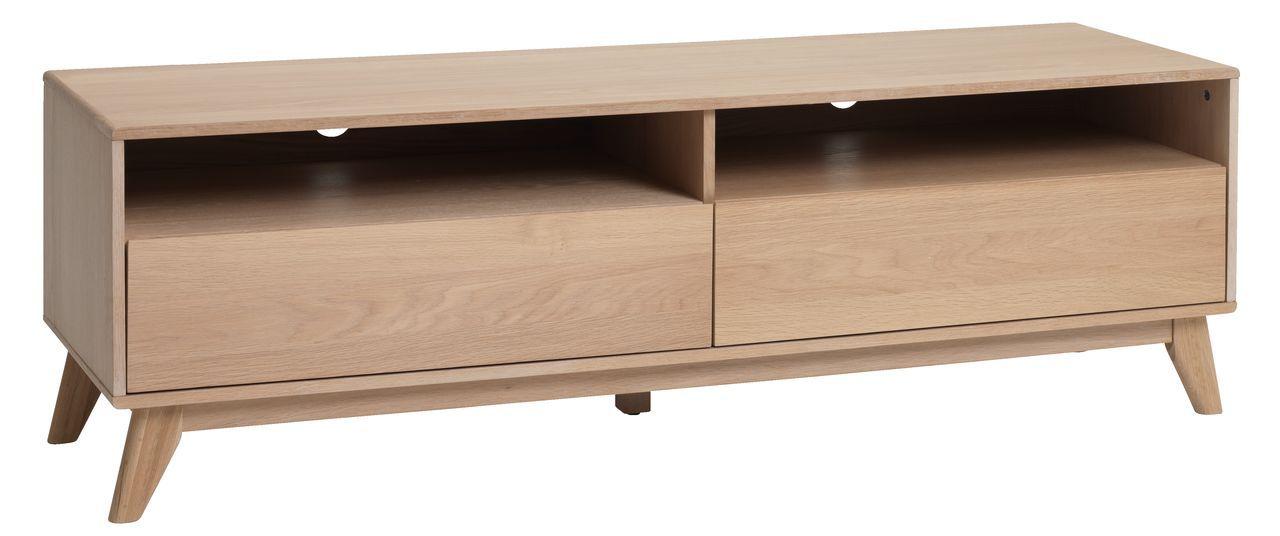 Tv Bench Kalby 2 Drawers Light Oak Jysk Buy Living Room Furniture Living Room Wall Units Drawer Lights