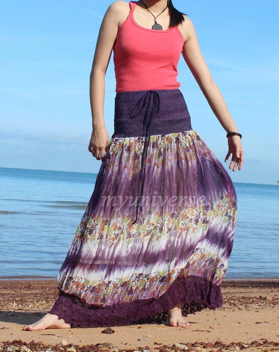 Chiffon Maxi Skirt Inspiration Floral Long Skirt/ Fall Party Women Skirt - Gifts Idea Skirt Summer Wear on Etsy, $32.00