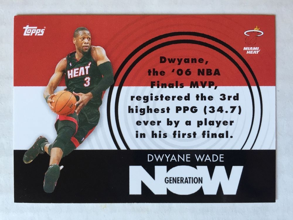Dwyane Wade 2007 08 Topps Generation Now Gn3 Miami Heat