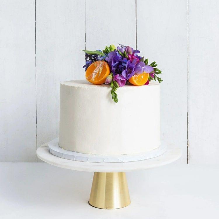 Hochzeitstorten einstöckig gestalten - Klein, aber fein