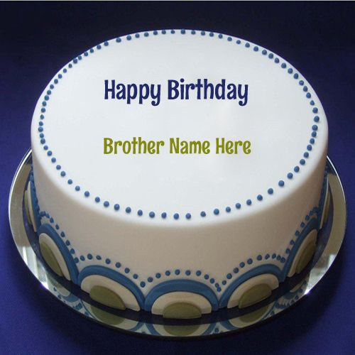 Happy Birthday Blueberry Cake For Brother With Name
