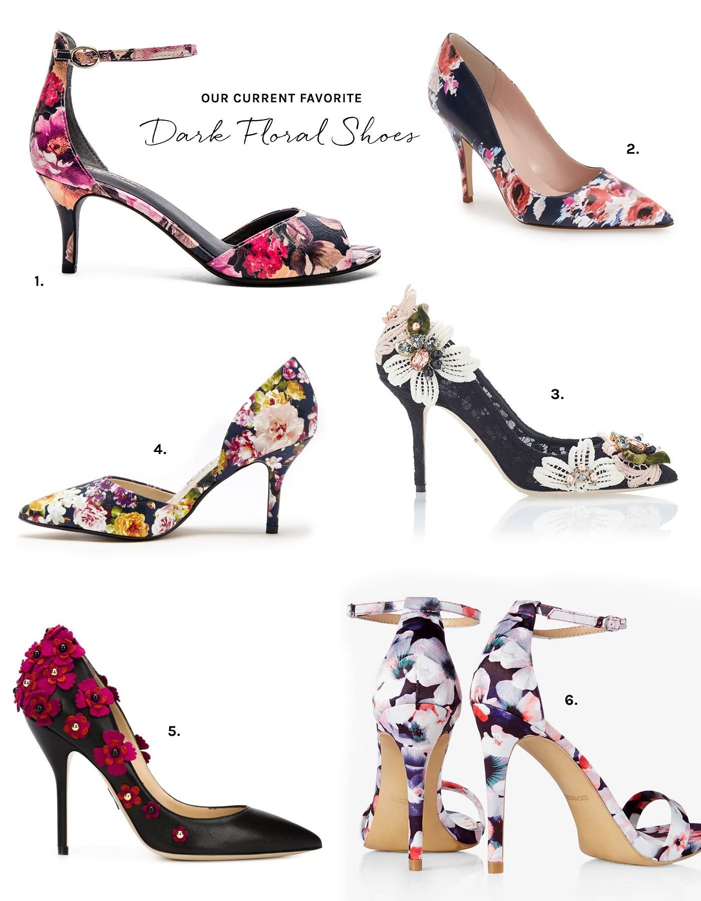 Heels for dark green dress  Floral Shoes for Your Wedding  Floral shoes Floral and Dark