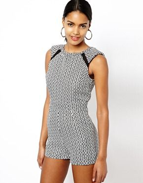 Image 1 of River Island Structured Playsuit