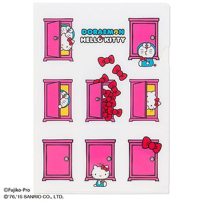 Sanrio Hello Kitty x Doraemon ? Anywhere Door Clear File Holder Set A4 A5 Japan  sc 1 st  Pinterest & Sanrio Hello Kitty x Doraemon ? Anywhere Door Clear File Holder ... pezcame.com