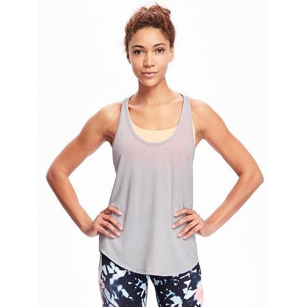 5a6e7678e0624 Old Navy Womens Go Dry Cool 2 In 1 Tank ( 25) ❤ liked on Polyvore featuring  activewear