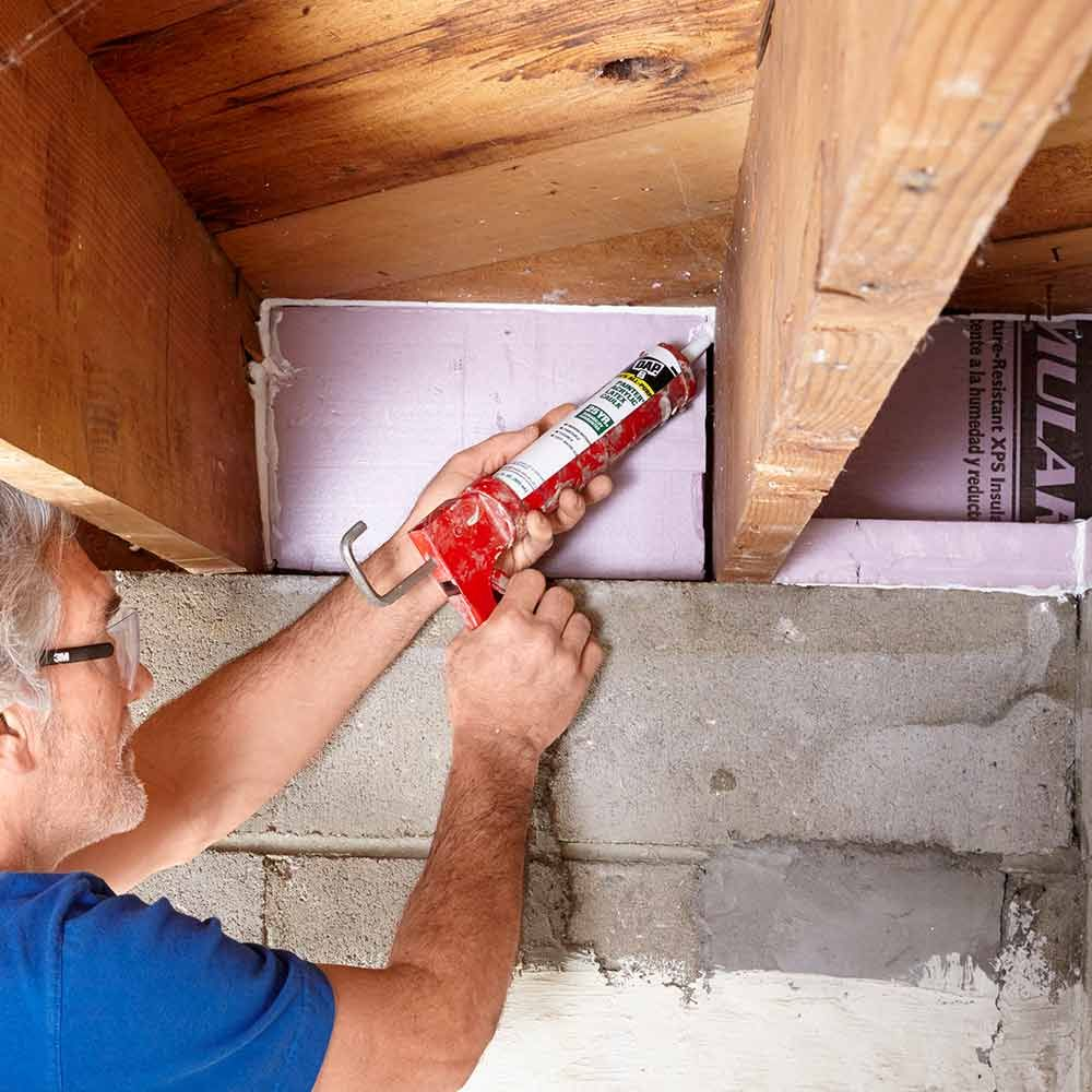 Seal the Rim Joists - 14 Basement Finishing Tips //.familyhandyman.com/basement/basement-finishing-tips & 14 Tips for Finishing Basements | Pinterest | Basements Finished ...