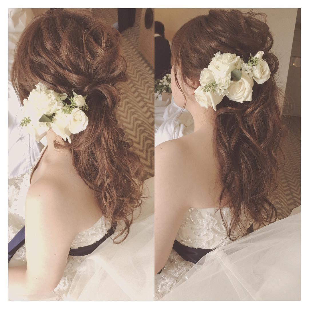 Kumiko Saekiさんはinstagramを利用しています ハーフアップかな ポニーテールかな な 脱力感ヘアがとても好き Hawaii Hawaiiwedding Halfupdo Ponytail ハワイ ハワイウェディング ヘアアレンジ ウェディングヘア 花嫁 髪型 ダウン ブライダル 髪型