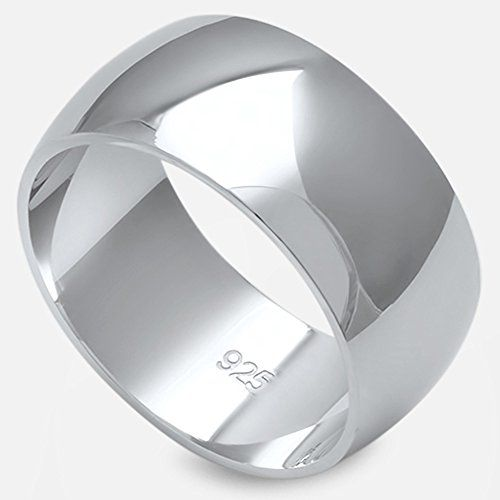 Oxford Diamond Co Solid Sterling Silver Womens Mens Unisex Wedding
