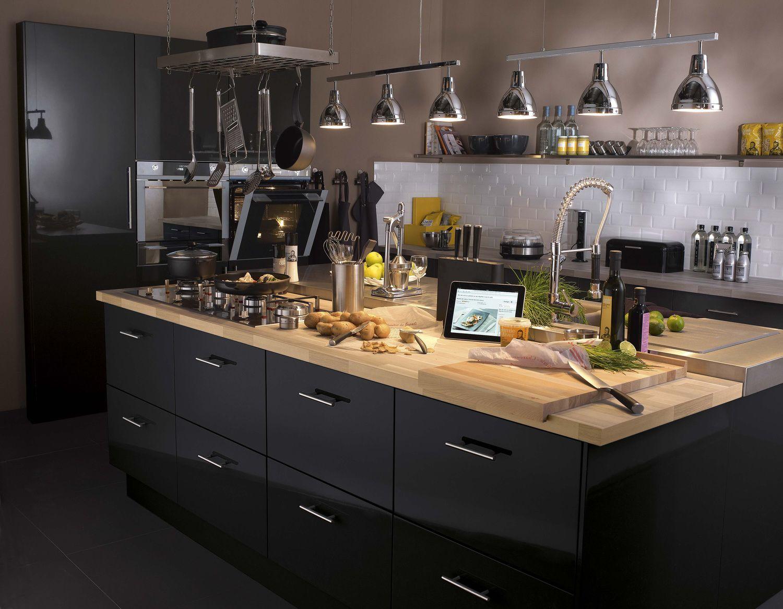 Cuisine Îlot Central Pinterest Cuisines Agencement Cuisine - Deco jardin pinterest pour idees de deco de cuisine