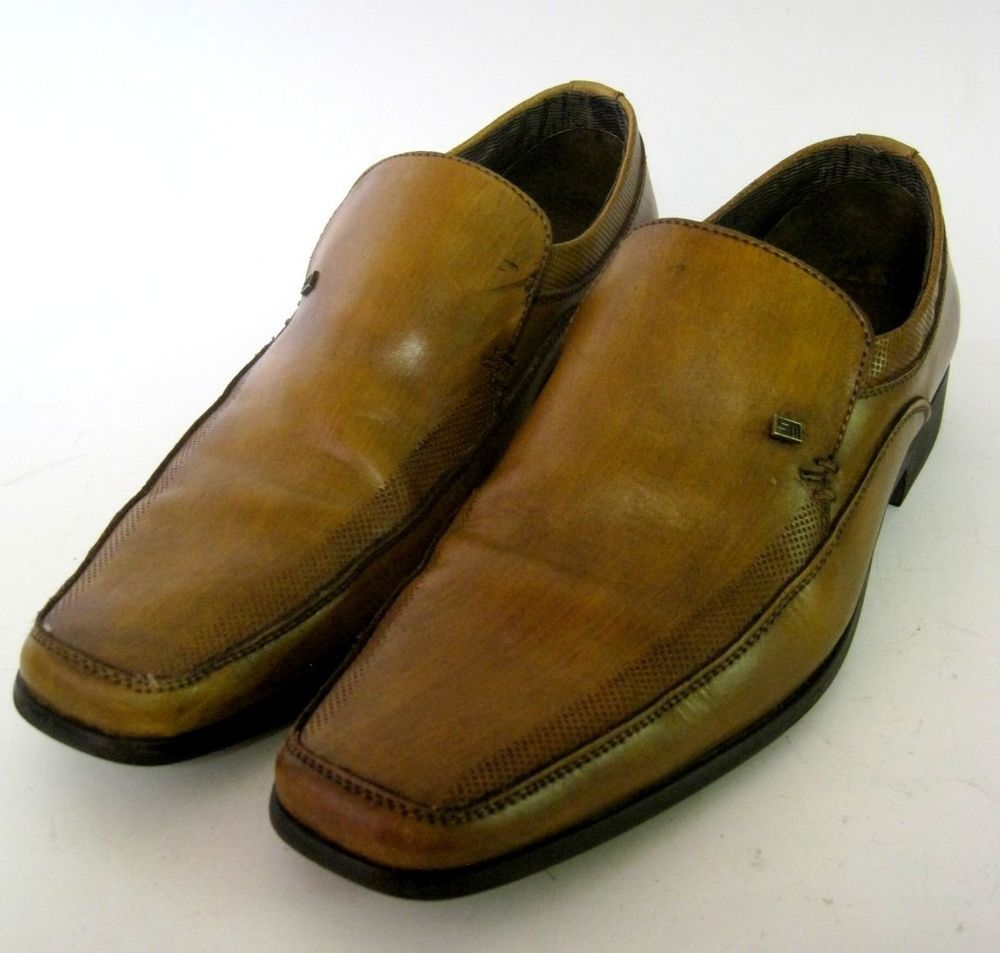 Steve Madden P-Catchh Men's Casual Loafers Shoes Size 10M Camel Slip On  Leather #