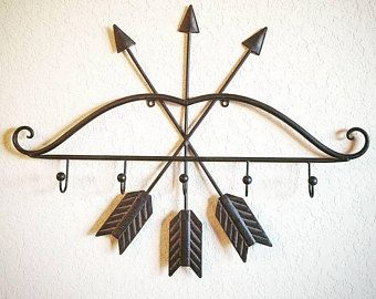 Coat Rack Hooks Arrow Decor Wall Nursery