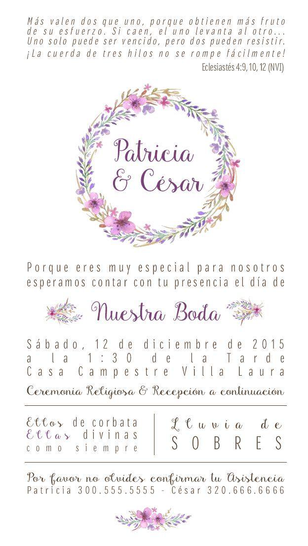 Pin De Jesus Guzman En Mio Invitaciones De Boda Civil