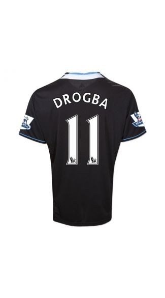 the latest 90942 7550f wholesale chelsea 11 drogba black soccer club jersey abc7d 6dd72