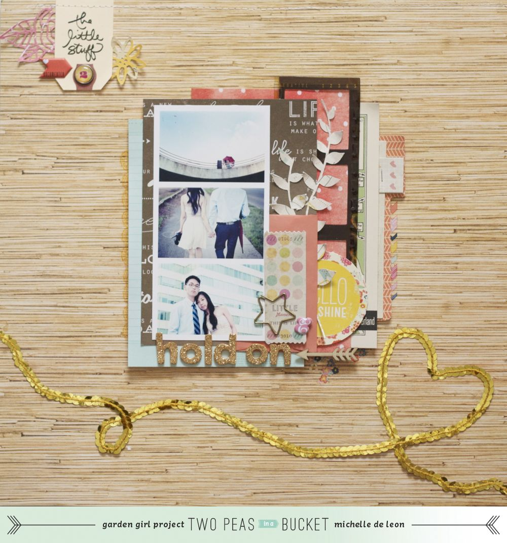 The Scrapbooking Chronicles of Portable Michelle: Hold On | Two Peas in a Bucket
