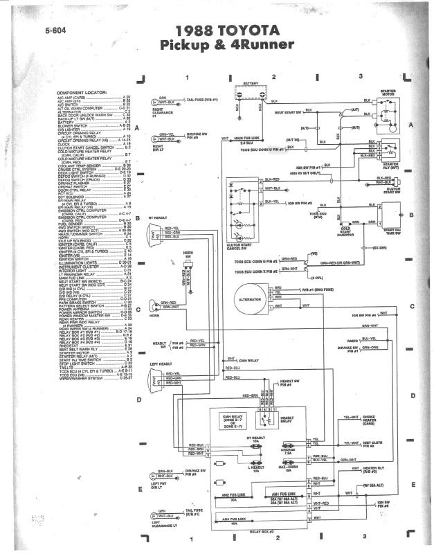 1988 toyota pickup wiring diagram 88 3vze 5 speed wiring diagram help page 2 yotatech forums  88 3vze 5 speed wiring diagram help