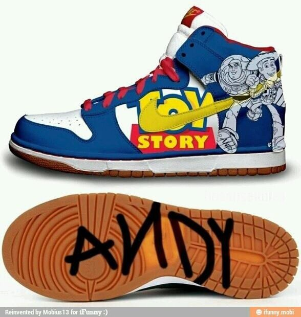 Andy toy story nikes :) | Disney shoes, Nike dunks, Shoes