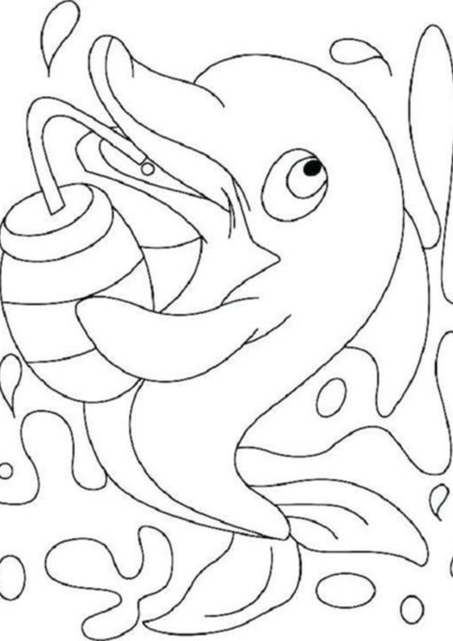 Free & Easy To Print Dolphin Coloring Pages in 2020