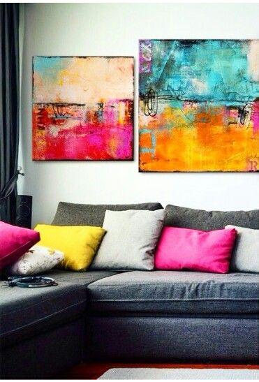 AuBergewohnlich Wohnzimmer Abstrakte Wand Kunst Ideen 13
