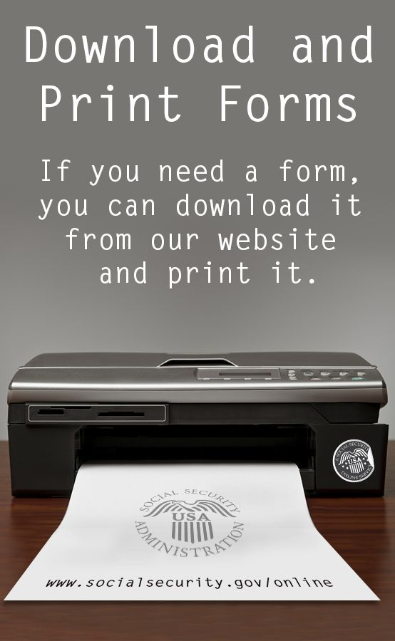 Download and print Social Security forms Social security