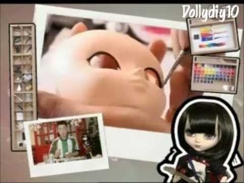 TUTORIAL Maquillar customizar cabeza AG muñeca estilo Pullip (español) - YouTube