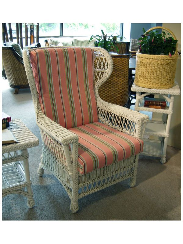 Savannah Wicker Wing Chair | Cottage Home®