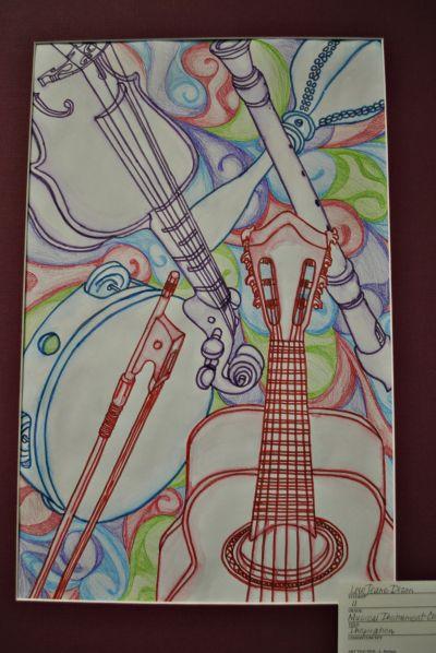 Music Instrument Drawings Art 2 High School Art Projects School