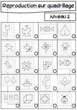 geometrie reproduction sur quadrillage math montessori and multiple intelligences. Black Bedroom Furniture Sets. Home Design Ideas