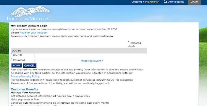 Freedom Mortgage Login  Websites