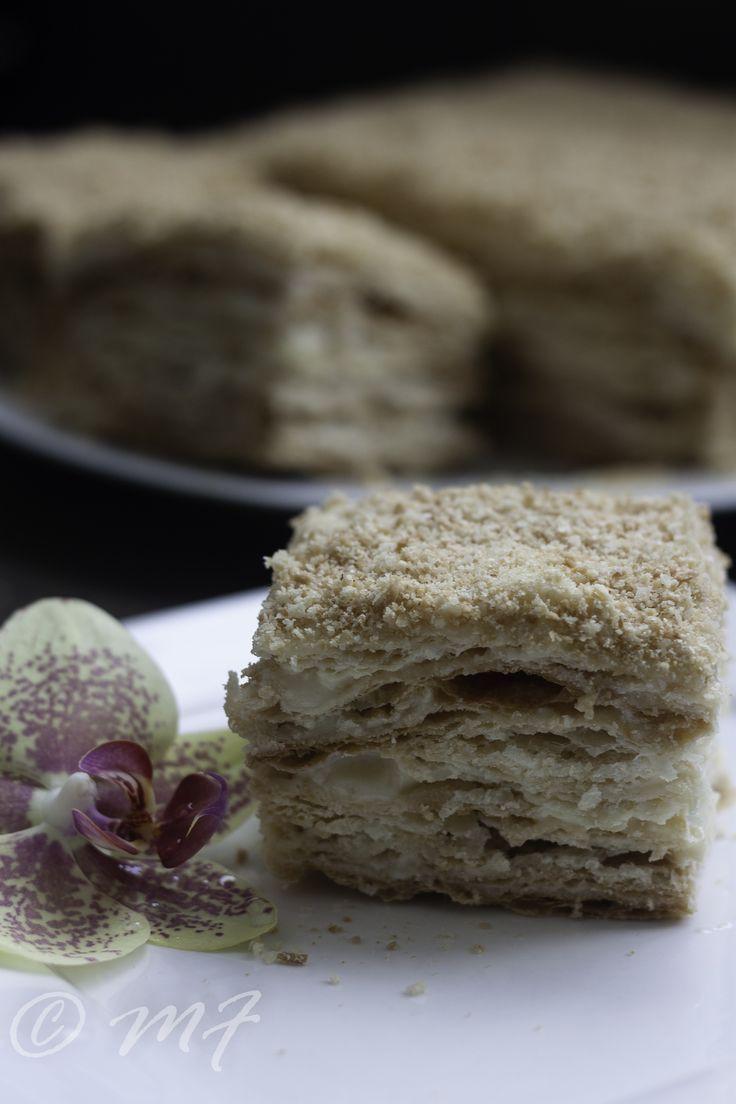 Napoleon Cake With Condensed Milk Napoleon Cake Just Desserts Dessert Recipes