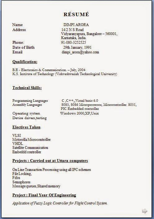 model of a cv Sample Template Example of ExcellentCV