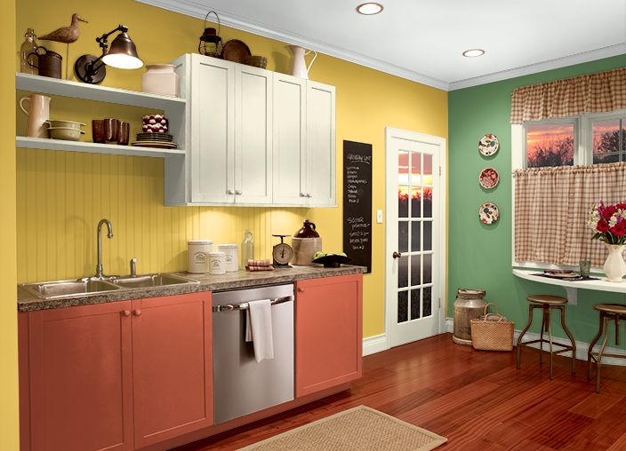 Lemon Sorbet Paint this is the project i created on behr. i used these colors