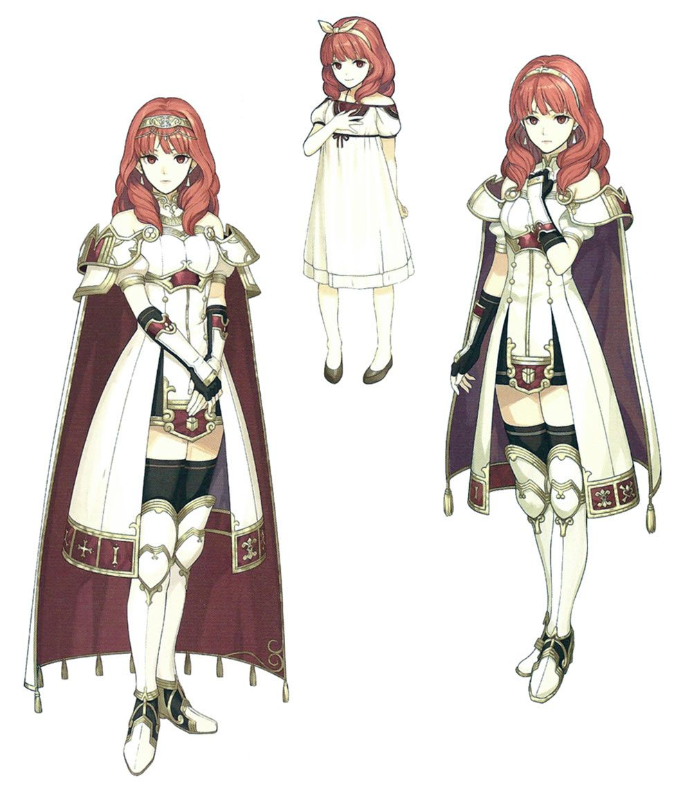 Celica Concept Artwork From Fire Emblem Echoes: Shadows Of