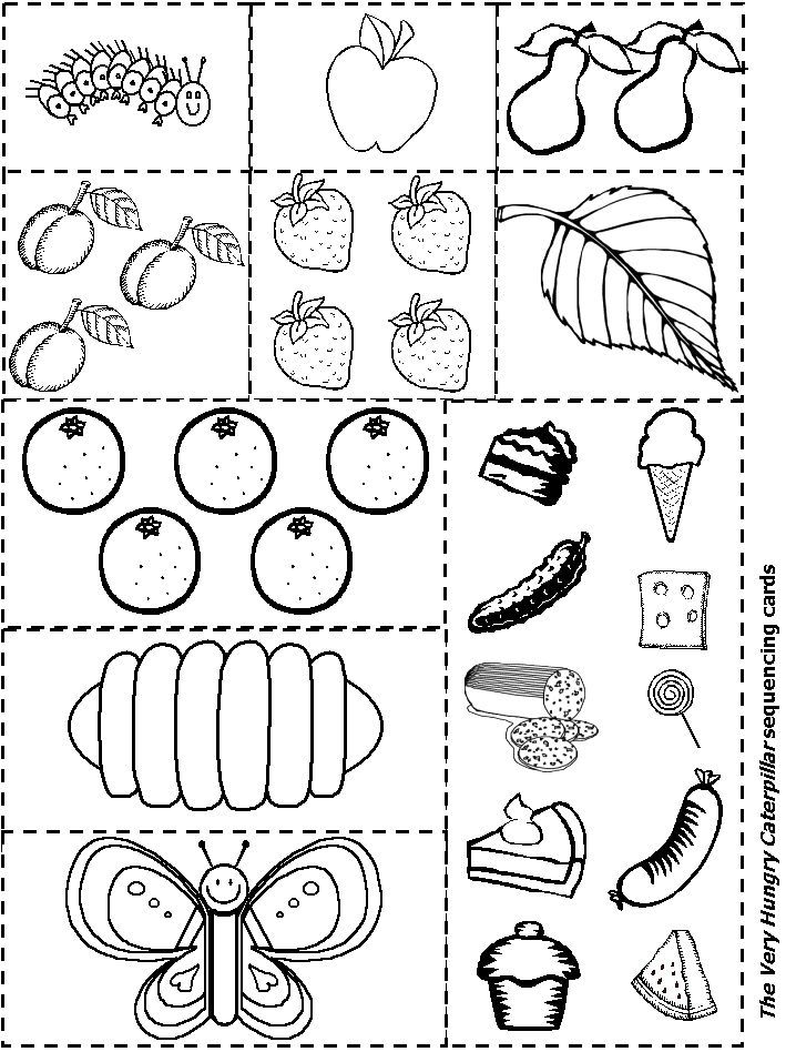 The Very Hungry Caterpillar Sequencing | Kid's Learning
