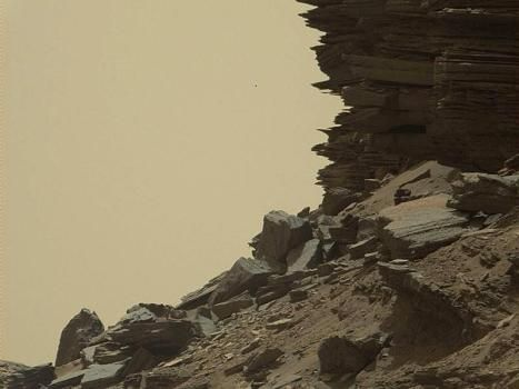 """Vom Wind auf der Marsoberfläche geformt: Der Marsrover """"Curiosity"""" hat…"""