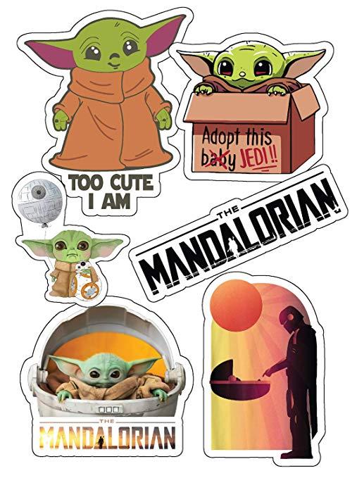 Baby Yoda The Child Original Artwork Sticker Star Wars