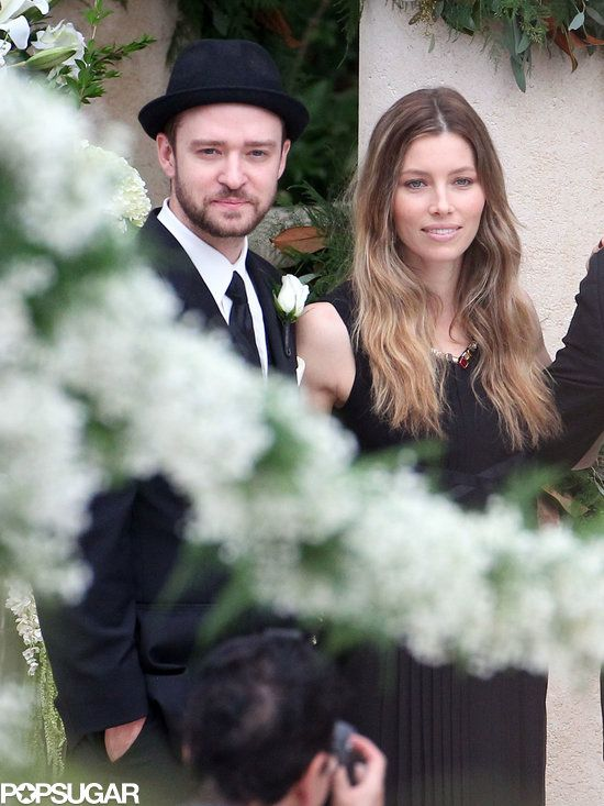 Justin Timberlake and Jessica Biel attended Chris Kirkpatrick's wedding