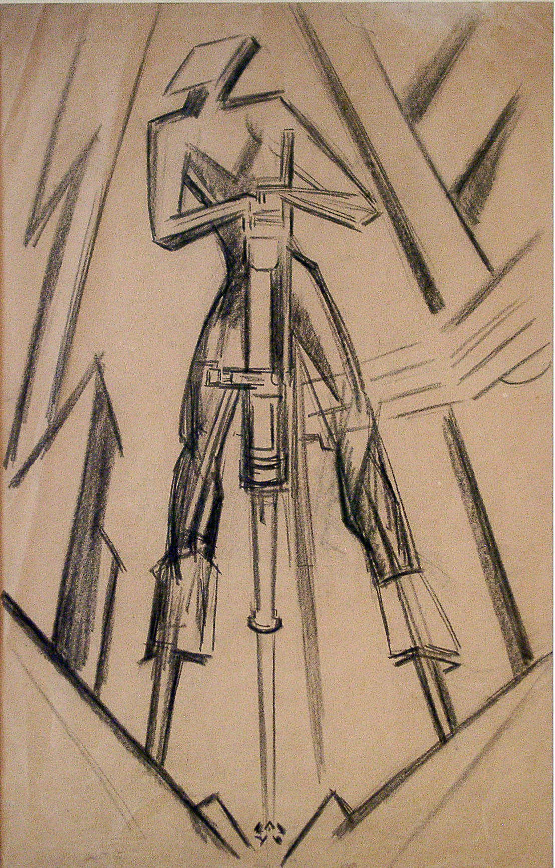 sir jacob epstein study for rock drill the  cubism