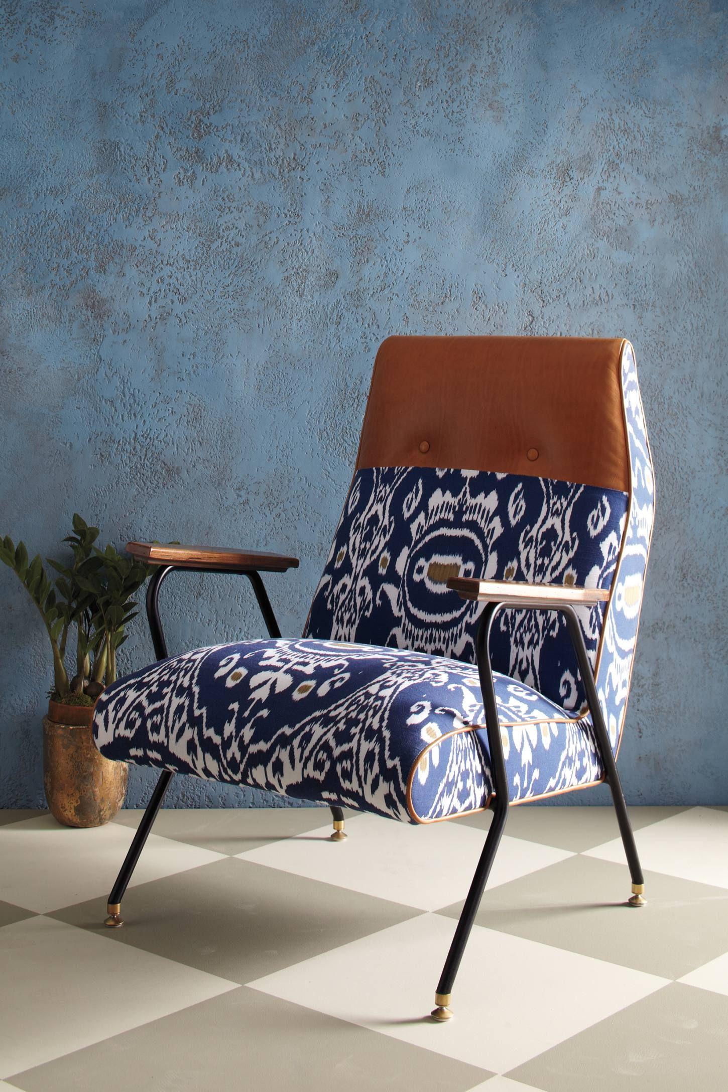 Quentin Chair Midnight Ikat
